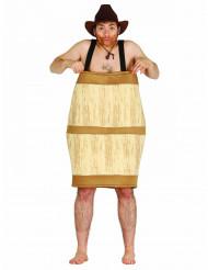Holzfass Kostüm für Erwachsene