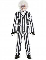 Schwarz-weiß gestreifter Anzug Herrenkostüm