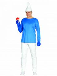 Blauer Zwerg Kostüm für Herren