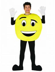 Emoticon Kostüm für Erwachsene variierbar gelb-schwarz