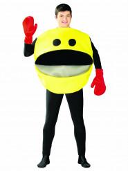 Emoticon Kostüm für Erwachsene bitte lächeln gelb-schwarz