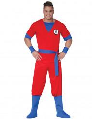Rotes Manga-Kämpfer Kostüm für Herren