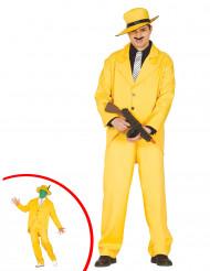 Kostüm Gangster in gelb für Erwachsene
