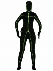 Neon-Kostüm für Damen schwarz