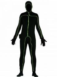 Leuchtendes Strichmännchen Kostüm schwarz