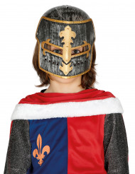 Gladiatoren Kinderhelm grau-goldfarben