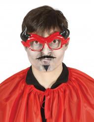 Teufel Spaßbrille mit Bart für Erwachsene