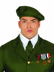 Medaillen Brosche Soldat gold-bunt