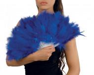 Showgirl Feder-Fächer blau