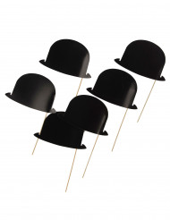 6 Foto-Motive Melonen Hüte schwarz