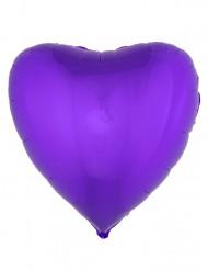 Folienballon Herz violett 45cm