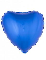 Folienballon Herz blau 45cm