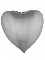 Folienballon Herz silber 76 cm
