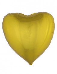 Folienballon Herz golden 76 cm