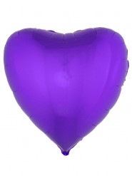 Folienballon violettes Herz 76 cm