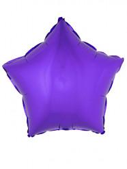 Folienballon violetter Stern 45 cm