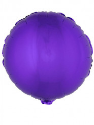 Folienballon rund violett 45 cm