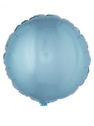 Folienballon rund türkis 45 cm