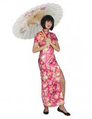 Japanerin Kostüm rosa für Damen