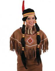 Indianerperücke für Damen bunt