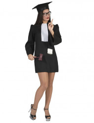 Richterin Kostüm für Damen schwarz-weiß
