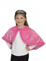 Umhang Plüsch-rosa Mädchen