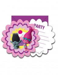 6 Einladungskarten mit Umschlagen Trolls™