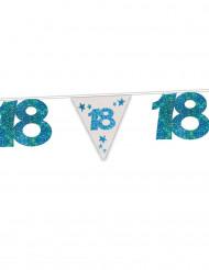 Girlande zum 18. Geburtstag mit blauen Pailletten 6 Meter