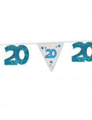 Blaue Girlande 20. Geburtstag