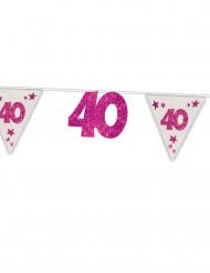 Girlande 40. Geburtstag mit Wimpeln