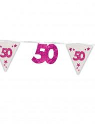 Wimpelgirlande 50.Geburtstag