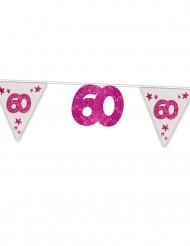 Wimpelgirlande 60.Geburtstag pink