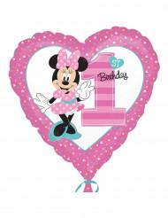 Folienballon Minnie™ 1. Geburtstag43cm