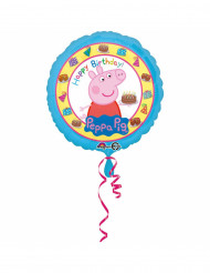 Folienballon Happy Birthday Peppa Wutz™ 43 cm