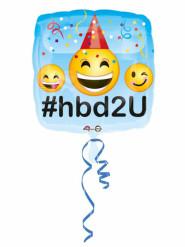 Folienballon Happy Birthday Emoticon 43