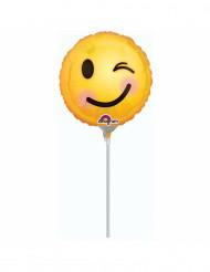 Folienballon Emoticn Augenzwinkern 23cm