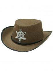 Sheriff Cowboyhut für Kinder braun