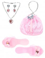 Accessoires Set rosa für Prinzessin