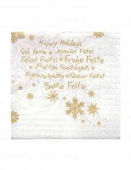 20 kleine Papier-Servietten Weihnachtsgrüße 24 x 24 cm