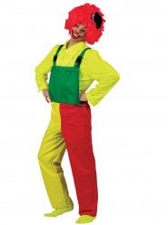 Clown Latzhose Kostüm für Erwachsene