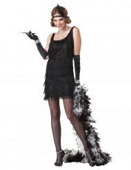 20er Charleston Kostüm für Damen schwarz