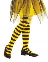 Schwarz-gelbe Ringelstrumpfhose für Kinder