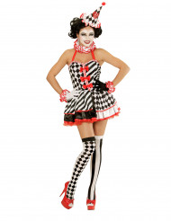 Kostüm Mimikerin mit kurzem Petticoat für Damen