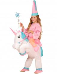 Aufblasbares Prinzessin und Einhorn Kostüm für Kinder
