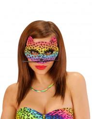 Süße Leopard-Maske für Damen bunt