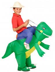 Aufblasbares Dinosaurier-Kostüm