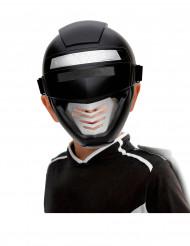 Power Roboter-Kopfbedeckung für Kinder schwarz-silber