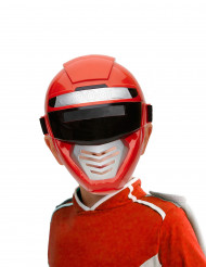 Power Roboter-Kopfbedeckung für Kinder rot-schwarz-silber