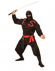 Ninja Kostüm muskulös für Erwachsene
