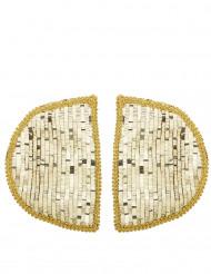 Schulterpolster mit goldenen Pailletten für Erwachsene